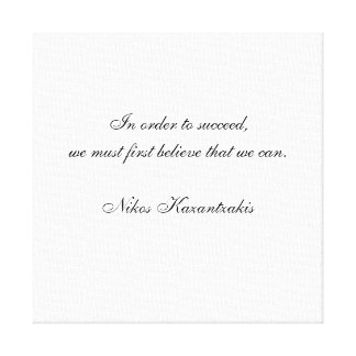 Nikos Kazantzakis Quote Canvas Print