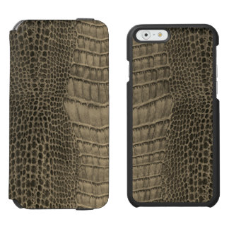 Nile Crocodile Classic Reptile Leather (Faux) Incipio Watson™ iPhone 6 Wallet Case
