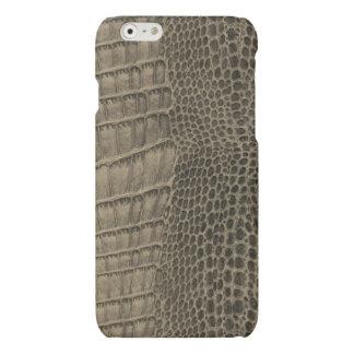 Nile Crocodile Classic Reptile Leather (Faux) iPhone 6 Plus Case