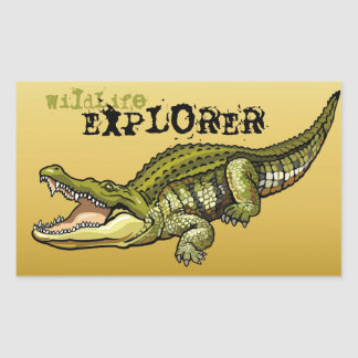 nile crocodile rectangular sticker