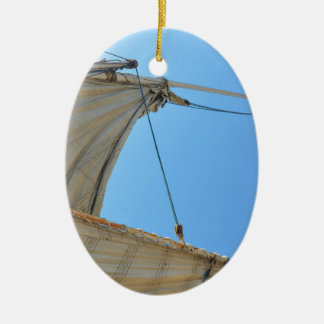 Nile Felucca Sail Ceramic Oval Decoration