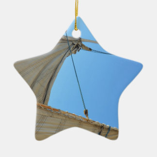Nile Felucca Sail Ceramic Star Decoration
