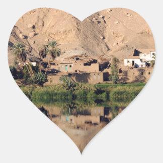 Nile River Egypt Heart Sticker