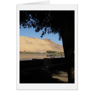 Nile River Landscape in Egypt Greeting Card