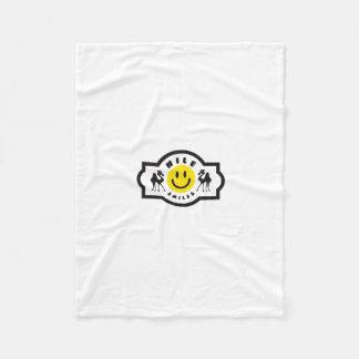Nile Smiles Lap Blanket - white