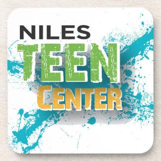 Niles Teen Center Logo Drink Coasters