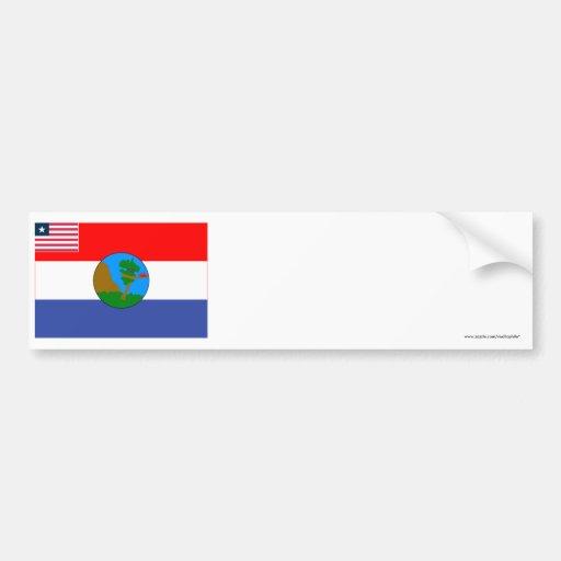 Nimba County Flag Bumper Stickers