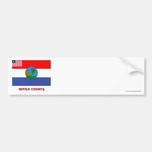 Nimba County Flag with Name Bumper Stickers