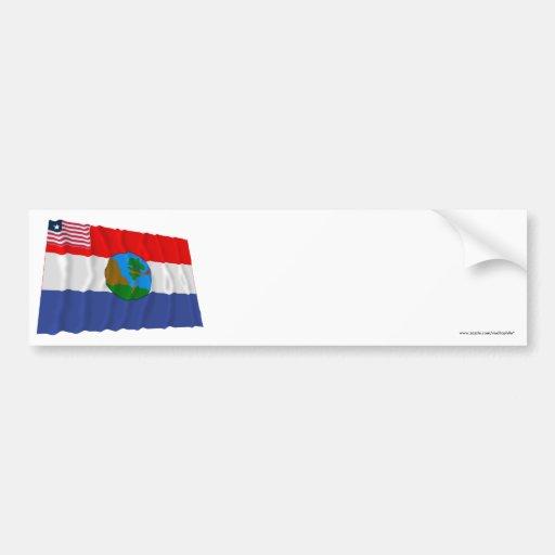 Nimba County Waving Flag Bumper Sticker