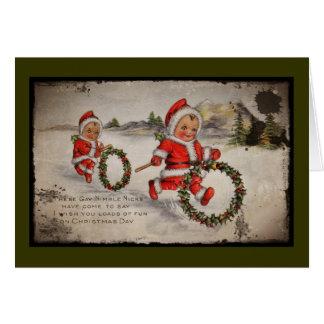 Nimbly Nicks with Holly Wreaths Card