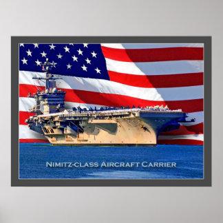 Nimitz-class Aircraft Carrier Navy Poster