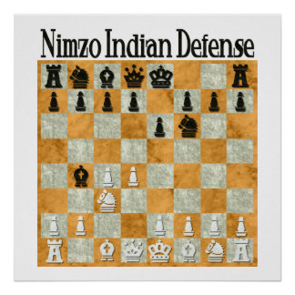 Nimzo-Indian Defense Poster