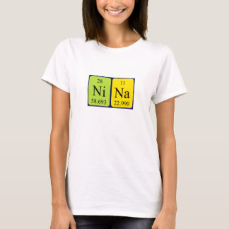 Nina periodic table name shirt