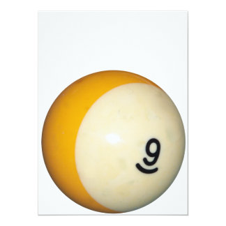 Nine Ball 14 Cm X 19 Cm Invitation Card