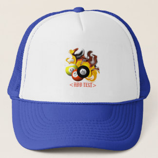 NINE BALL FIRE TRUCKER HAT