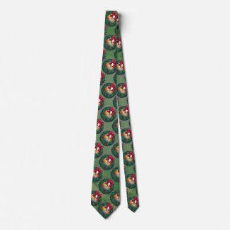 Nine Ball in Wreath Pattern on Green Tie