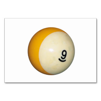 Nine Ball Table Cards