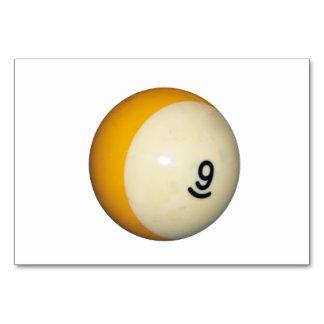 Nine Ball Table Cards