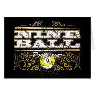 Nine Ball Vintage Design Card