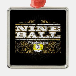 Nine Ball Vintage Design Christmas Ornament