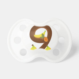 Nine bananas baby pacifier