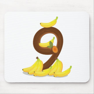 Nine bananas mouse pad