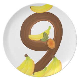 Nine bananas plates