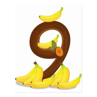 Nine bananas postcard