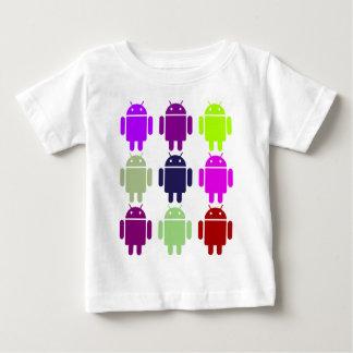 Nine Bug Droids (Android Multiple Purple Colors) Baby T-Shirt