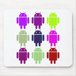 Nine Bug Droids (Android Multiple Purple Colors) Mouse Pad