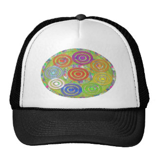 Nine Circles within Circles n Ovals - Fun Cap