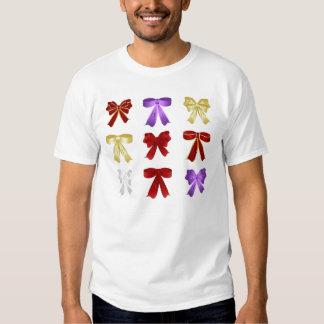 Nine colourful bows tees