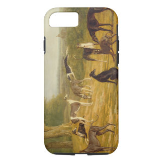 Nine Greyhounds in a Landscape (oil on canvas) iPhone 8/7 Case
