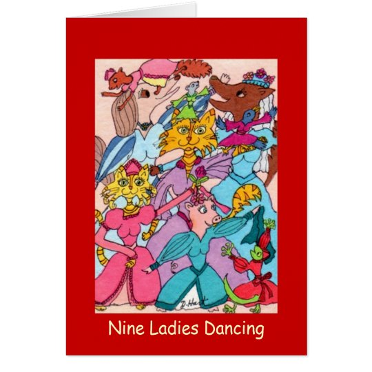 Nine Ladies Dancing Card