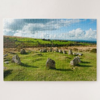 Nine Maiden's Stone Circle Dartmoor Jigsaw Puzzle