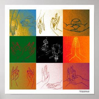 Nine Mudras Poster A