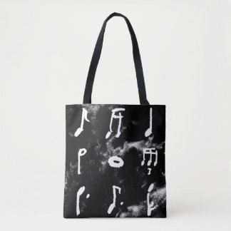 Nine Music Notes In A Square Tote Bag