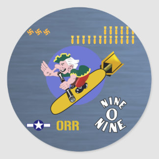 Nine O Nine WWII Nose Art Classic Round Sticker