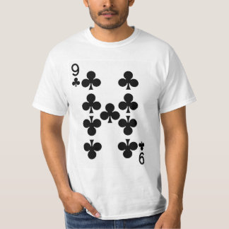 Nine of Clubs Playing Card T-Shirt