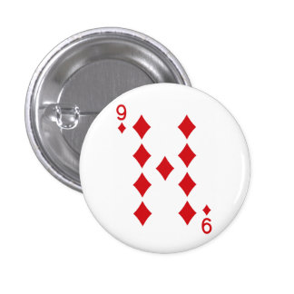 Nine of Diamonds Playing Card Button