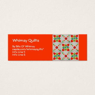 Nine Patch Heart Quilt Mini Business Card