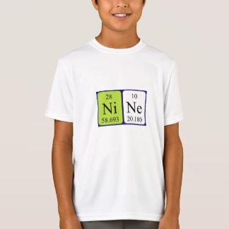 Nine periodic table name shirt