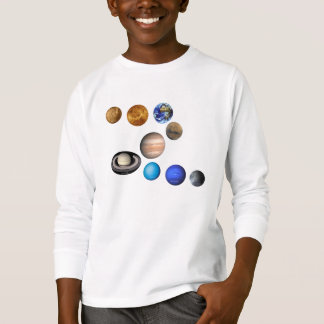 Nine planets in the solar system. Mercury,Venus, T Shirt