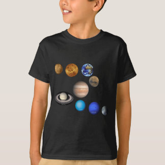 Nine Planets in the Solar System T-Shirt