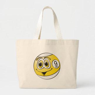 Nine Pool Ball Cartoon Tote Bags
