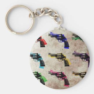 Nine Revolvers Keychain
