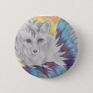 Nine tailed fox - Fantasy drawing 6 Cm Round Badge