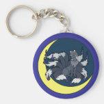 Nine Tailed Silver Fox (Kitsune) Key Chains
