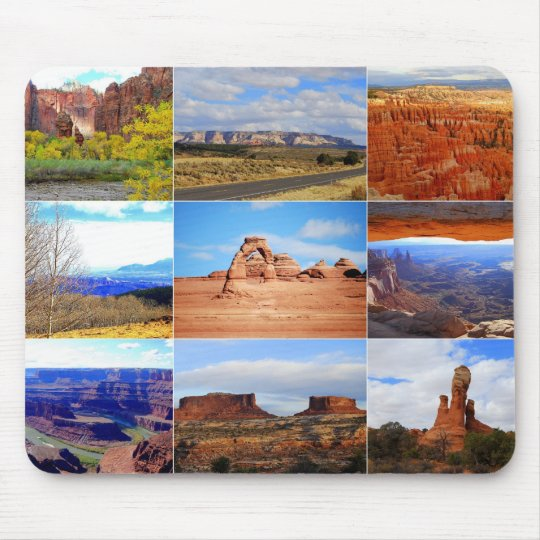 Nine Utah Landscape Icons Mouse Mat