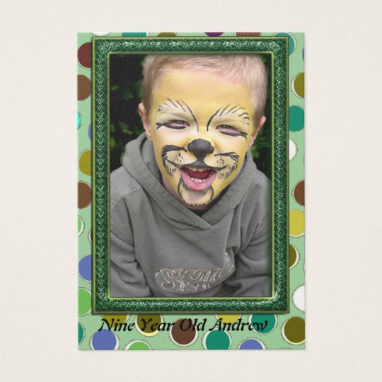 Nine Year Old  Boys Photo Cards